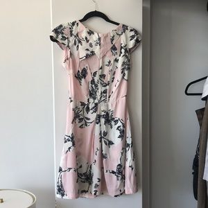 Top shop flower dress black and pink size 4